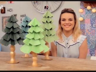 Como fazer uma árvore de Natal de papel: ainda dá tempo!   Casa de Colorir