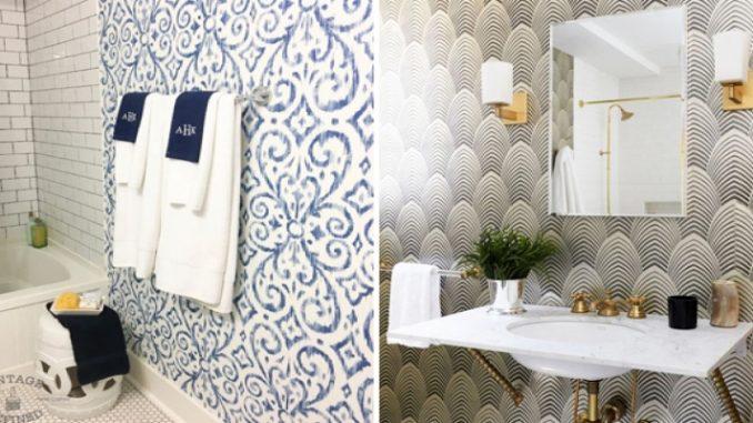 Veja como usar papel de parede no banheiro   ZAP em Casa