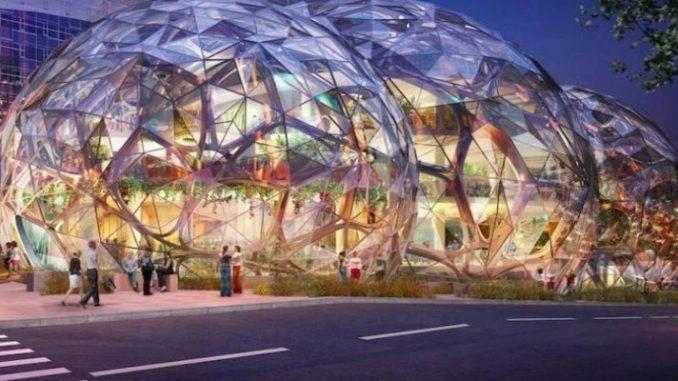 Amazon aposta na arquitetura futurista e ecológica para sua nova sede