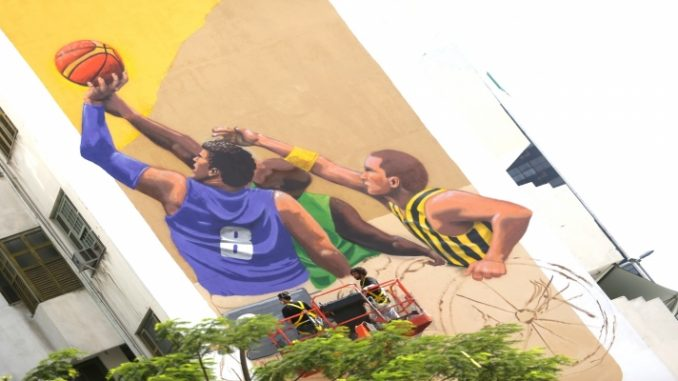 Jogos paralímpicos são homenageados com grafite temático