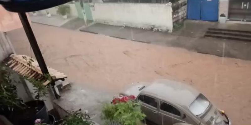 O bairro Dezessete foi o mais afetado, em Santo Antônio de Pádua — Foto: Divulgação/Cassiano Dutra