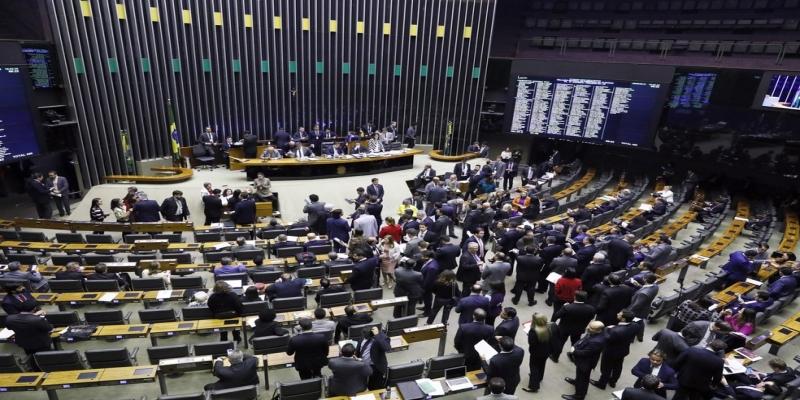 Deputados no plenário da Câmara durante a votação desta terça feira (25) — Foto: Luis Macedo/Câmara dos Deputados