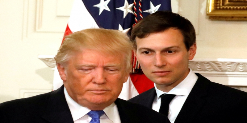 Donald Trump e Jared Kushner, dia 23/02/2017