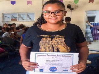 Estudante de Campos, RJ, recebe certificado da Nasa