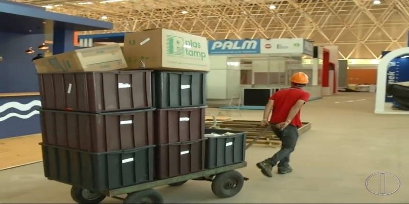 Feira Brasil Offshore começa nesta terça feira (24) em Macaé, no RJ — Foto: Reprodução / Inter TV