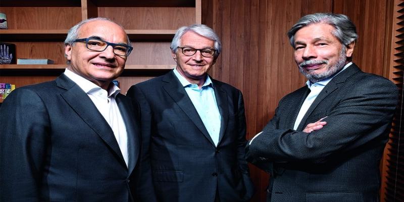 Guilherme Leal, Pedro Passos e Luiz Seabra, da Natura