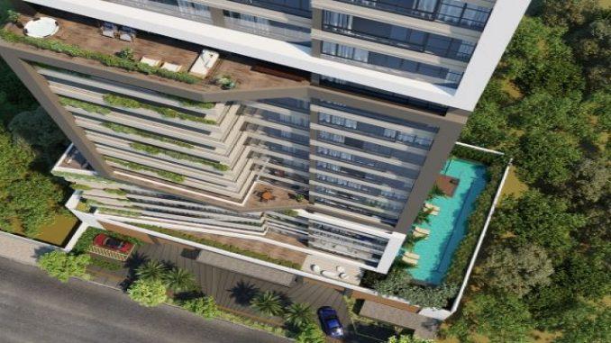 Prédio residencial com frente em vidro e visão 180º será construído em Goiânia