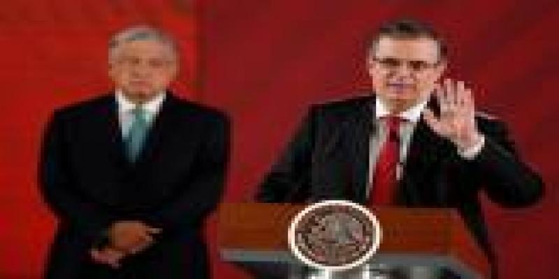 Presidente do México, Andres Manuel Lopez Obrador, e o ministro das Relações Exteriores, Marcelo Ebrard.