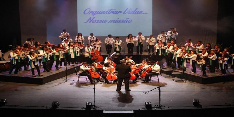 Serão mais de 200 jovens músicos mostrando o resultado do trabalho da Orquestrando a Vida — Foto: Divulgação/Antônio Filho