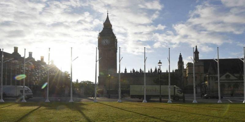 Vista do Big Ben e do parlamento britânico em Londres, dia 24/06/2016