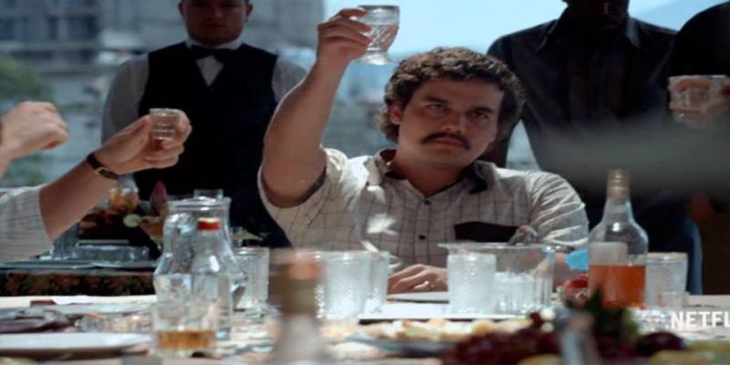 Wagner Moura no papel de Pablo Escobar em Narcos