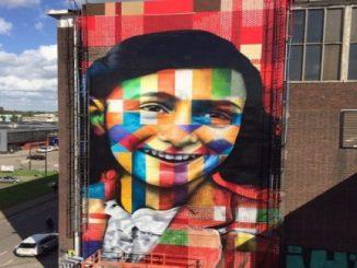 Anne Frank por Eduardo Kobra: o trabalho do brasileiro em Amsterdã